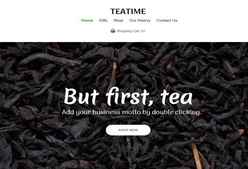 ecommerce Tea time